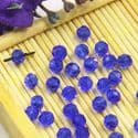 Beads, Selenial Crystal, Crystal, Light blue , Faceted Rounds, Diameter 4mm, 10 Beads, [ZZC217]
