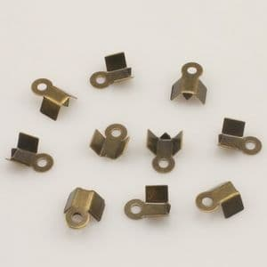 Cord ends, High quality metal alloy, Metallic colour, 3mm x 8mm, 25  pieces, (LJP314)