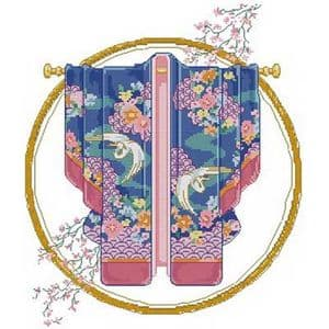 Cross stitch kit, 27cm x 31cm, 14 count (squares/inch), Complex, Other flower, (CSY0536)