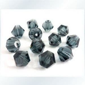 Crystal beads - faceted 6mm, 16 Piece, (ZZB011)
