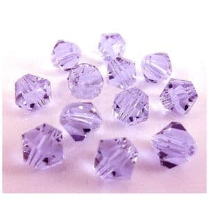 Crystal beads - faceted 6mm, purple, 16 Piece, (ZZB014)
