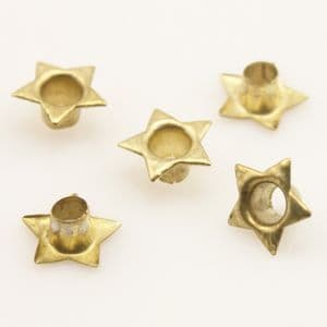 Eyelets for bag making, High quality metal alloy, Gold colour, 10 pieces, [PJK007]