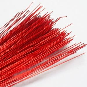 Florist wires, red, 20 pieces, Length 80cm, Diameter 0.8mm (approximate), Gauge 20, (TS013)