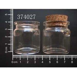 Glass bottles, Colourless, 3.7cm x 3.7cm x 4cm, 20ml, 1 piece, (GZP013)
