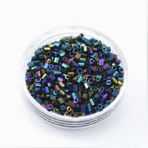 Glass tube Bugle Seed Beads - 2mm x 2mm, 25 grams, 1700 Beads, (SSG010)