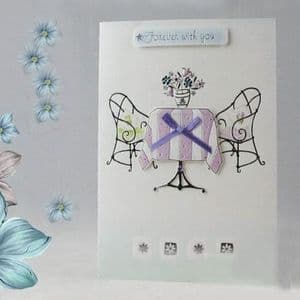 Handcrafted gift card,