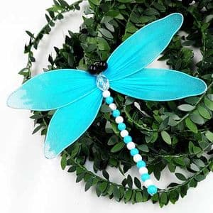 Handmade nylon product Set of materials, Dragonfly, 11cm x 11cm, 3 Dragonfly, [XS080]