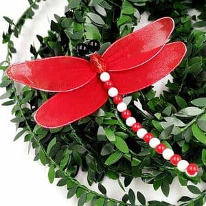 Handmade nylon product Set of materials, Dragonfly, 11cm x 11cm, 3 Dragonfly, [XS082]
