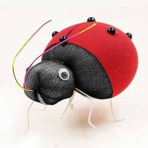 Handmade nylon product, wires and Nylon, Burgandy, Insects, 1 Animal, 7.5cm x 5.5cm, [SW087]