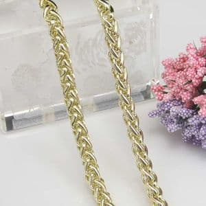 Metal chains, High quality metal alloy, Light yellow, 1.5m, Diameter 7mm, [SKS034a]