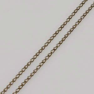 Metal chains, High quality metal alloy, Metallic colour, 2 x 0.5m, 2mm x 3mm, (ZLB0007)