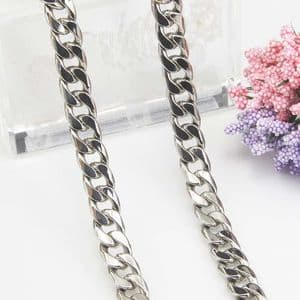 Metal chains, High quality metal alloy, Silver colour, 1m, Diameter 9mm, [SKS043b]