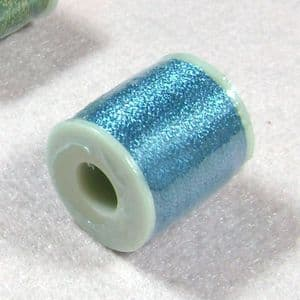 Metallic threads, blue, approximately 200m, (CJX003)