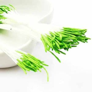 Micro stamens for cake decoration - Long head, Flower stamen, Olive, 95 pieces, 8cm, [ST1508]