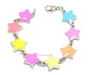 Multicoloured star bracelet, (jbb25)