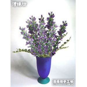 Paper flower making kit, purple, Aconitum, 8 flowers, (FM64)