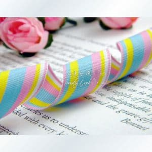 Pattern ribbon, Assorted colours, 2.5cm x 2m, 1 piece, (SD131)