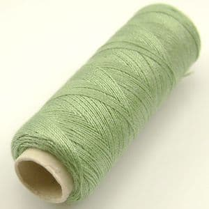 Polyester sewing thread, green, approximately 150m, (FYX0034)