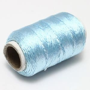 Scintil thread, Cotton thread, Light blue, 150m, Glossy, (CGX096)