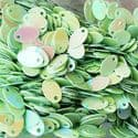 Sequins, Lime green, 5mm x 8mm, 255 pieces, 3g, Oval, Sequins are shiny, [CZP644]