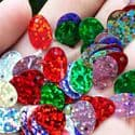 Sequins, Mixed colour, 9mm x 13mm, 145 pieces, 5g, Oval, Sequins are shiny, [CZP634]