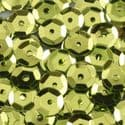 Sequins, Olive, Diameter 6mm, 810 pieces, 10g, Faceted Discs, Sequins are shiny, [CZP201]