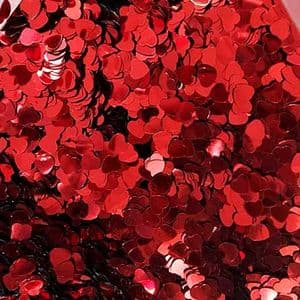 Sequins, Pinkish red, 6mm, 600 pieces, 5g, Heart shape, Sequins are shiny, [CZP597]