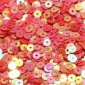 Sequins, red, Diameter 4mm, 1050 pieces, 5g, Disc shape, Sequins are shiny, [CZP326]