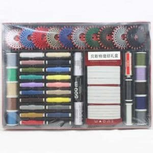 Sewing craft set, Polyester and Cotton, Assorted colours, (TZH0004)