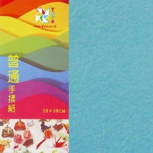 Shoyu crumpled Fresh Blue, 10cm square, 30 sheets, (KKY049)