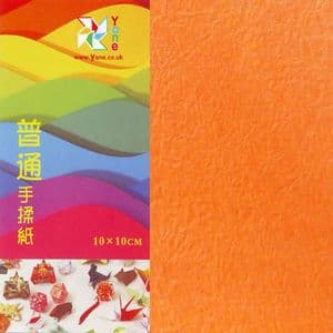 Shoyu crumpled Orange, 10cm square, 30 sheets, (KKY036)