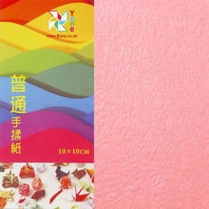 Shoyu crumpled Red Pink, 10cm square, 30 sheets, (KKY029)