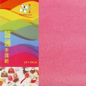 Shoyu crumpled Rose Red, 10cm square, 30 sheets, (KKY028)