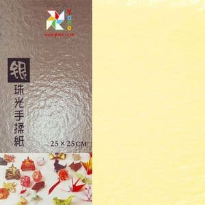 Shoyu Pearlescent Light Yellow, 10 inch (25 cm) square, 10 sheets, (KYZ042)
