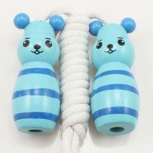 Skipping rope, Wood, Turquoise colour, 1.88m, 1  piece, (TTS0005)