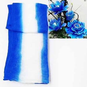 Vertical two colours dyed nylon, Dark blue, white, Stretched Size 2m x 20cm, 1 piece, [SWW0886]