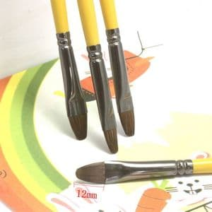 Water colour Writing brush, Chinese calligraphy, Weasel, Dark green, 28.5cm x 11mm, 1 piece, (CYF0004)