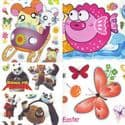 Window stickers Sets, 10 sheets, [001JDC0220]