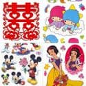 Window stickers Sets, 10 sheets, [001JDC0221]