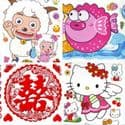Window stickers Sets, 10 sheets, [001JDC0222]