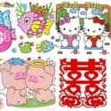 Window stickers Sets, 4 sheets, (001JDC0001)