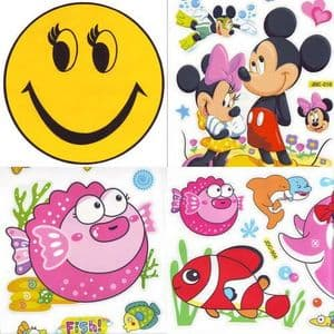 Window stickers Sets, 4 sheets, [001JDC0007]