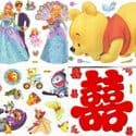Window stickers Sets, 4 sheets, [001JDC0013]