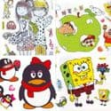 Window stickers Sets, 4 sheets, [001JDC0020]