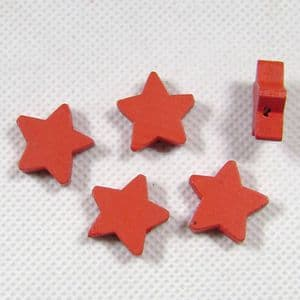 Wooden beads, red, 18mm x 5mm, 5 Piece, (MZP101)