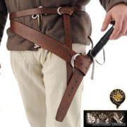 13th Century Broadsword Belt - Right Hand & Left Hand