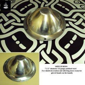 19cm -  14 Gauge Steel Shield Boss