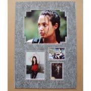 Angelina Jolie Signed & Mounted Photo Set