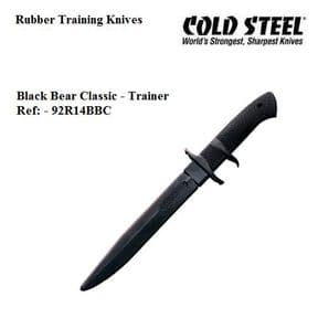 Cold Steel Black Bear Classic Rubber Training Knife
