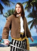Black & Grey Stripe Pirate Pants